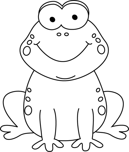 Frog clipart black and white. Cartoon clip art march