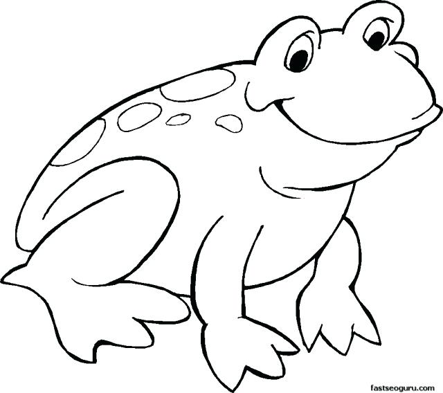Frog clipart colored. Outline of goodfridays info