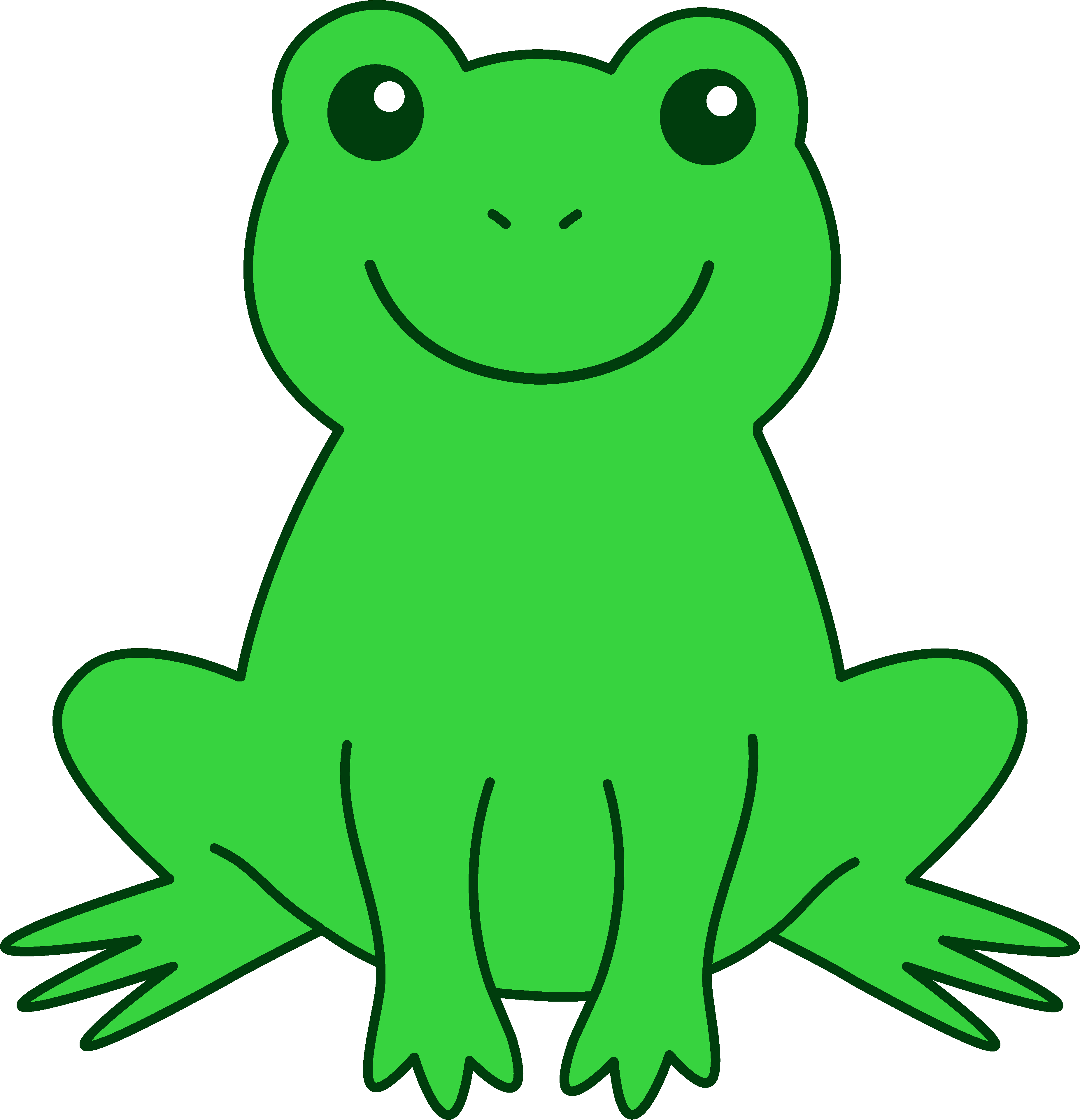 drawing frogs forg