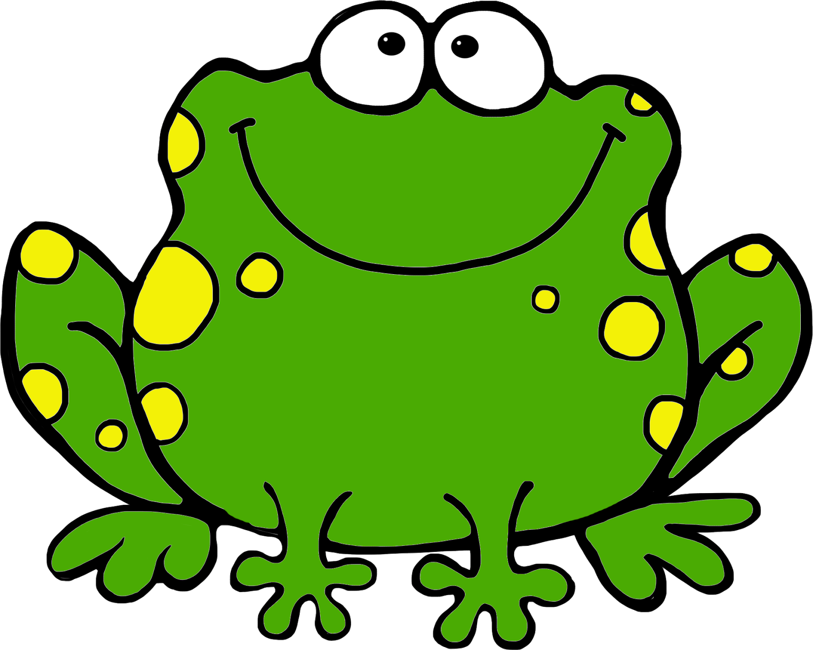 Frog clipart kid. Green