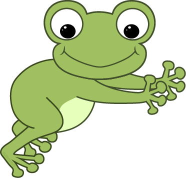 Drawing frog side view. Free non animated signature