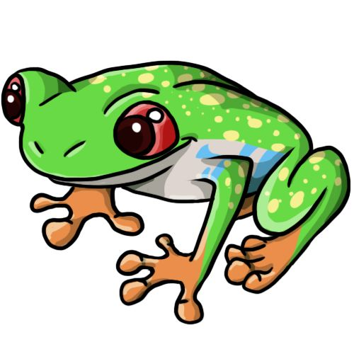 Boys clipart frog. Free clip art drawings