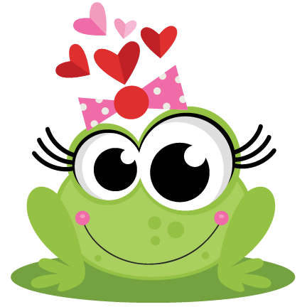 Animation svg toad. Frog in love scrapbook