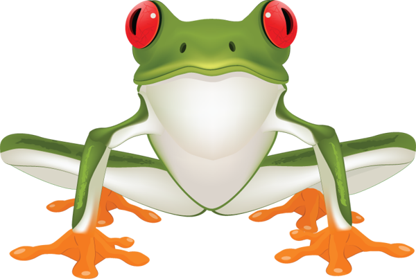 Drawing frogs tree frog. Brown clipart