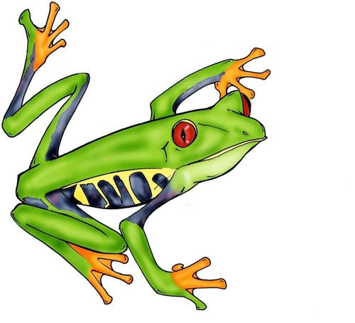 Frogs clipart green frog. Tree drawing at getdrawings