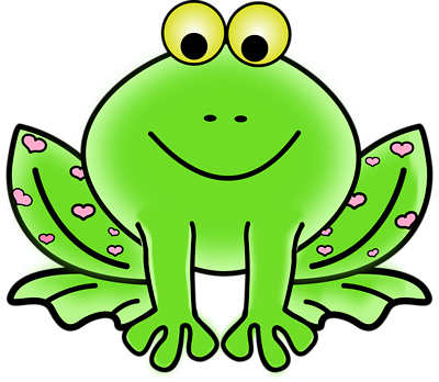 Frogs clipart green frog. Cartoon free