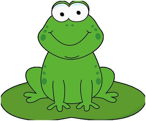 Frogs clipart green frog. Lovely cute little free