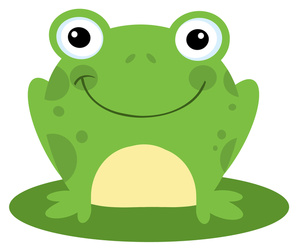 Frogs clipart green frog. Free image cute smiling