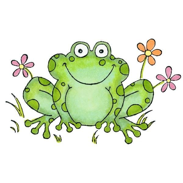 Frogs clipart green frog. E a d