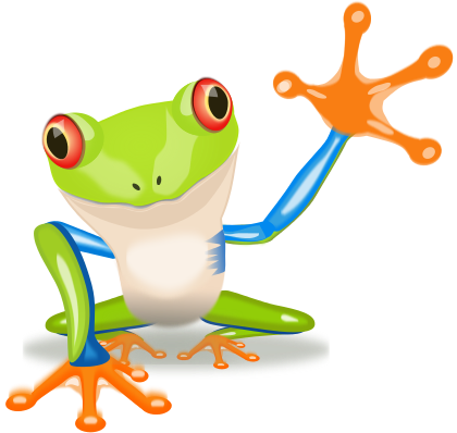 Frogs clipart tree frog. Image for waving colorful