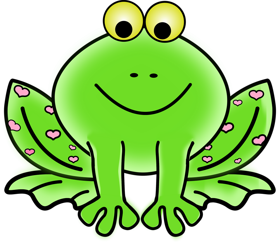 Frogs drawing animated. Cartoon picture of a