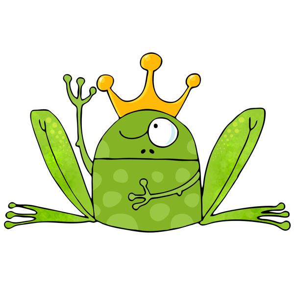 Frogs drawing king. Kinfrig creative endevours in
