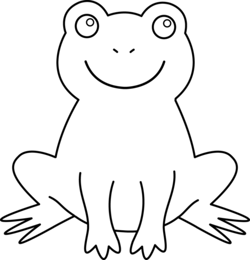 Frogs drawing outline. Royalty free download