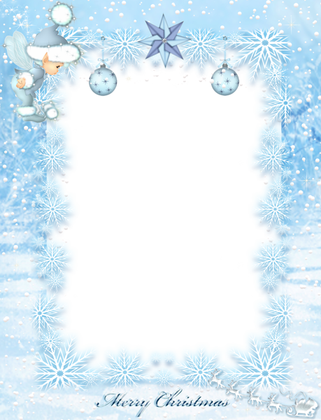 Frost border png. Christmas transparent borders and