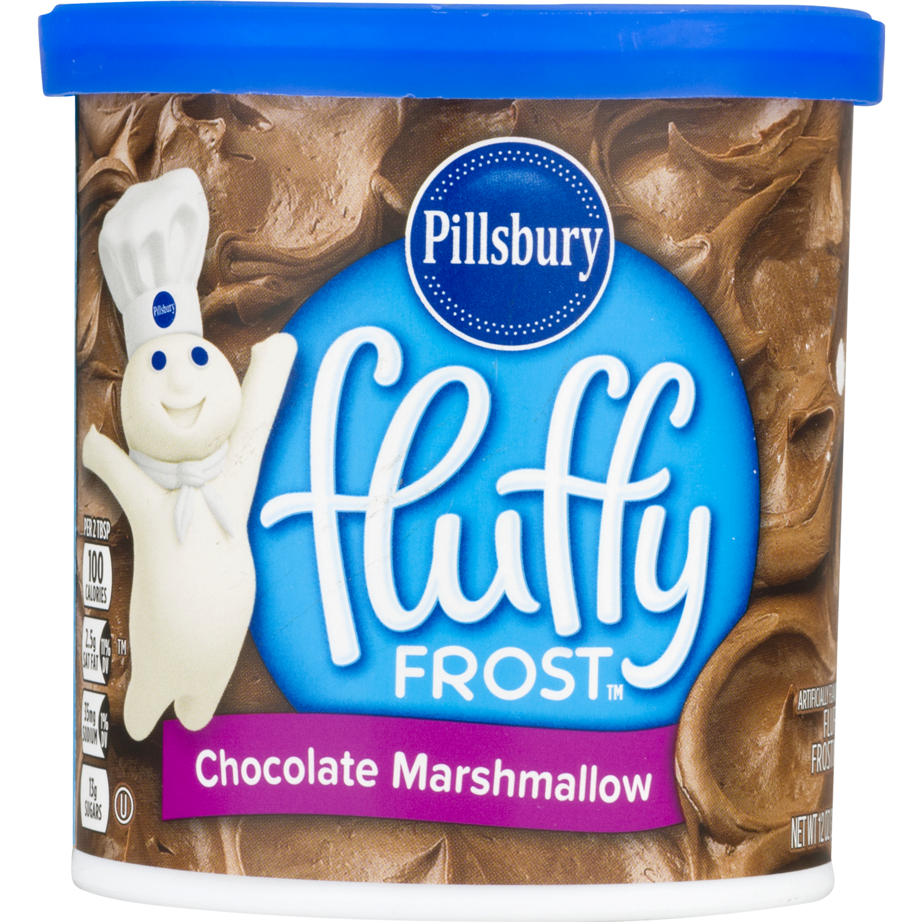 Frost transparent chocolate. Pillsbury marshmallow fluffy frosting