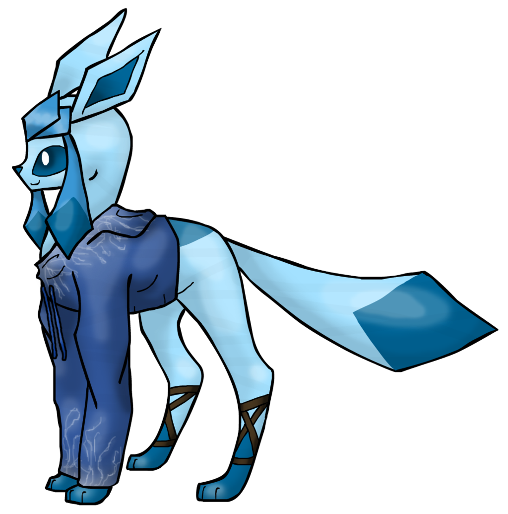 Frost transparent drawing. Jack the glaceon by