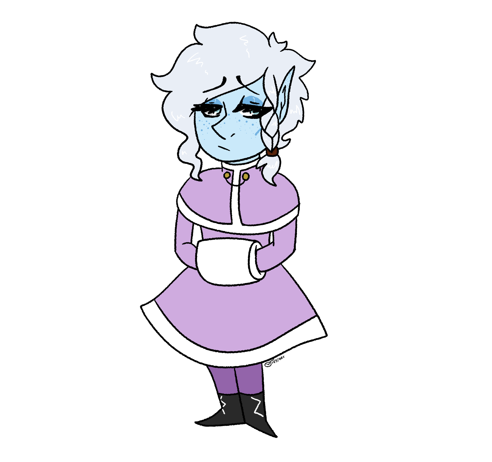Frost transparent drawing. By floraldecay on newgrounds