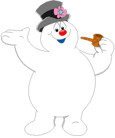 Frost transparent frosty the snowman. Blossom mouse by mollyketty