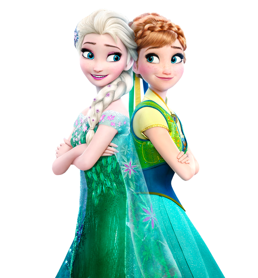 Frozen fever png. Elsa and anna vector