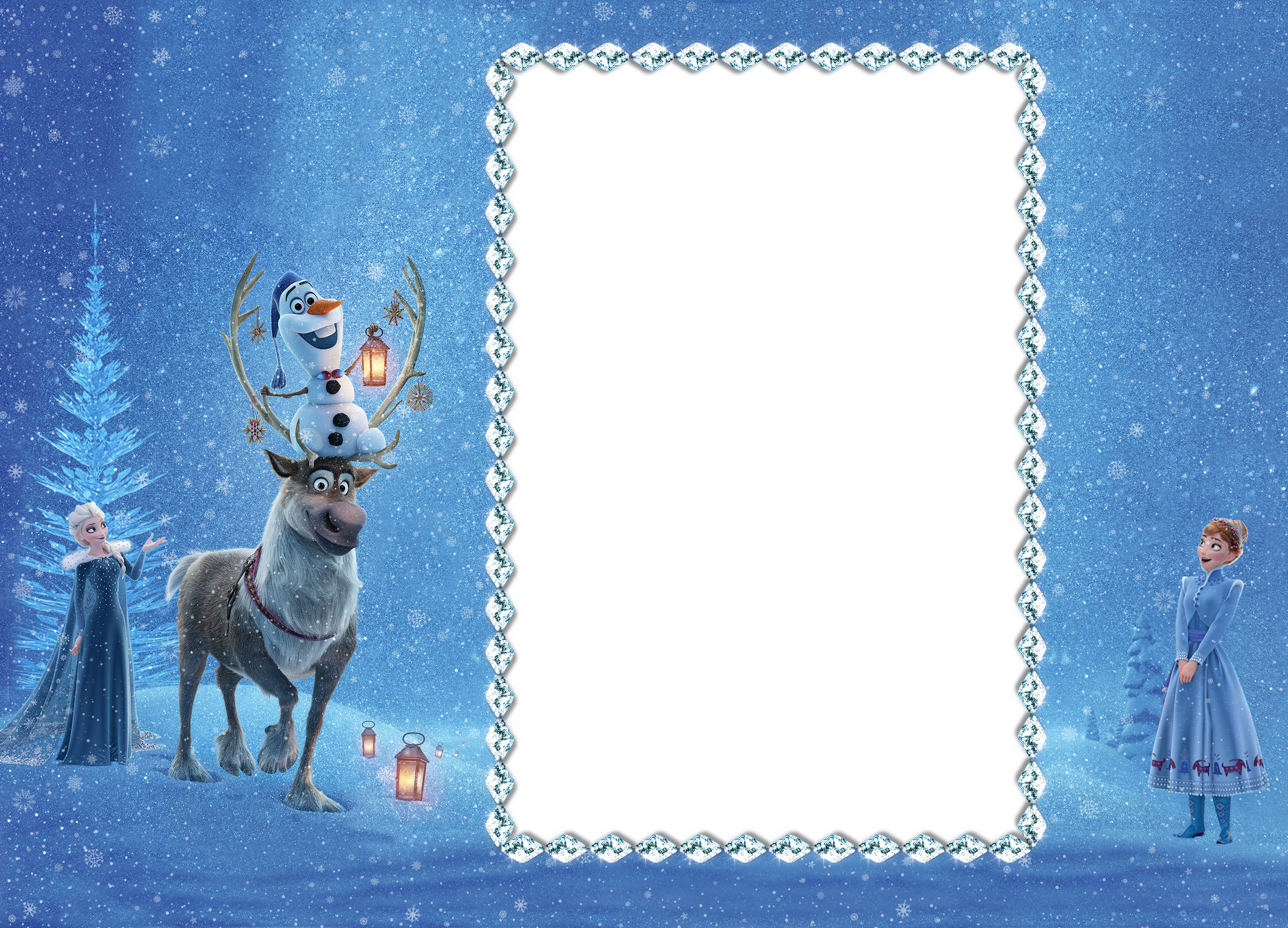 Frozen background png. Olaf adventure transparent frame