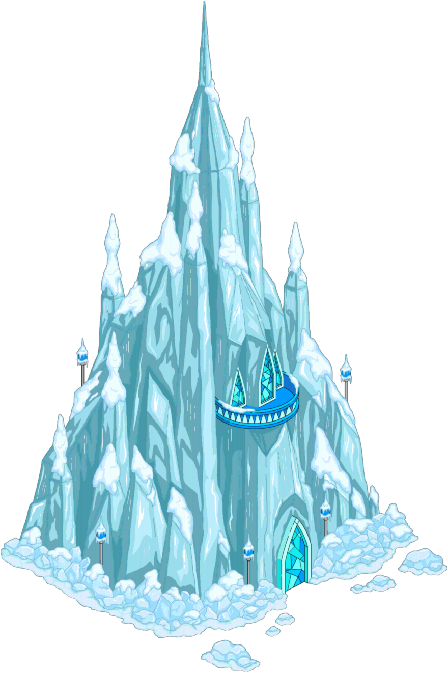 Frozen castle png. Clipart ice pencil and