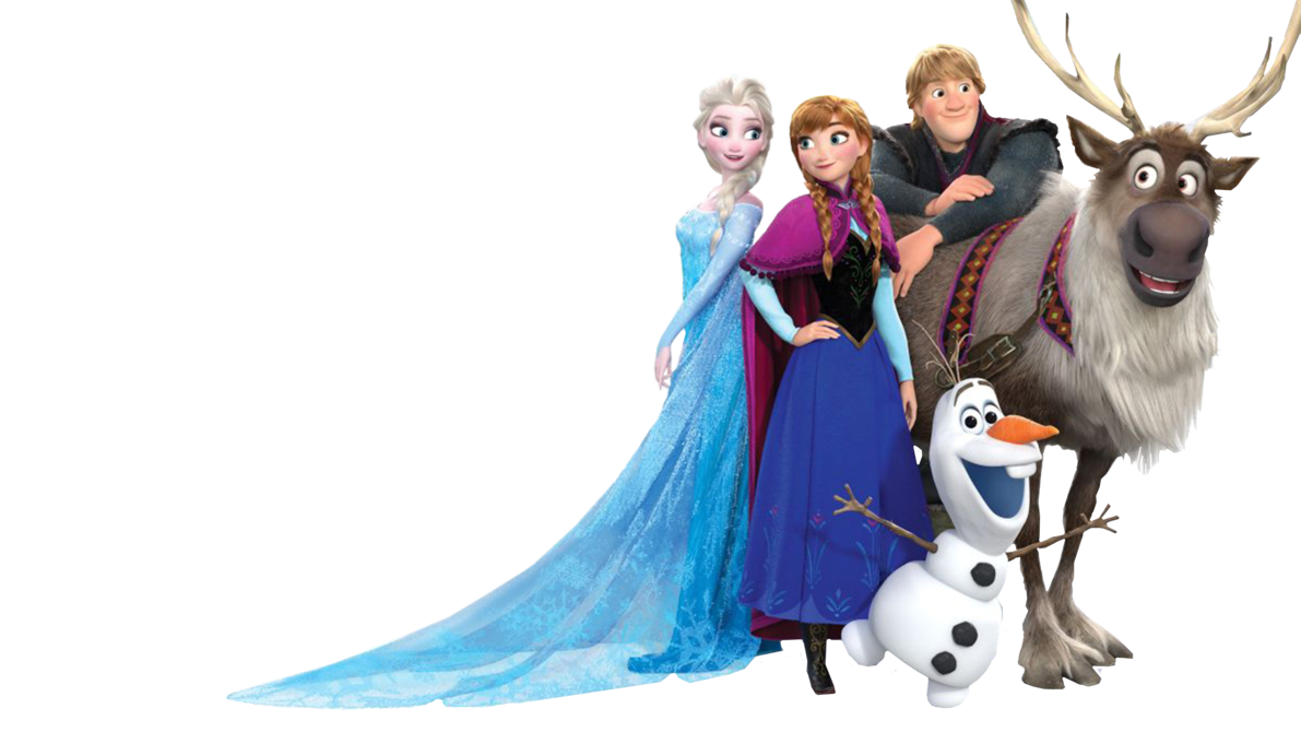 Frozen characters png. Random vector by king