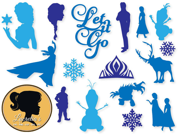 Frozen clipart file. Dxf svg files for