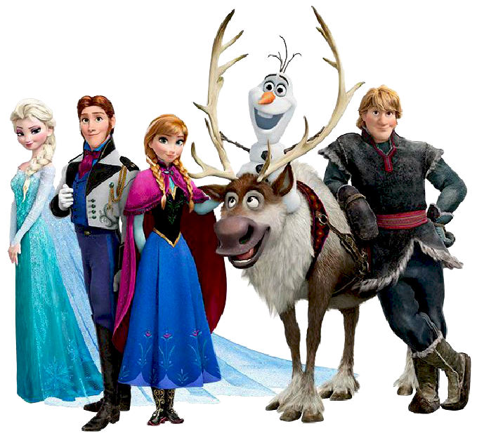 Frozen clipart frozen character. Free lots of from