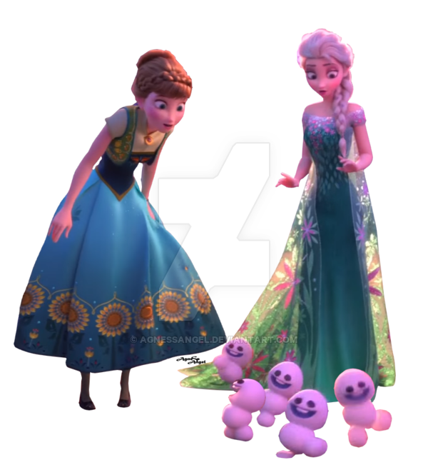 Frozen elsa and anna png. End fever transparent by