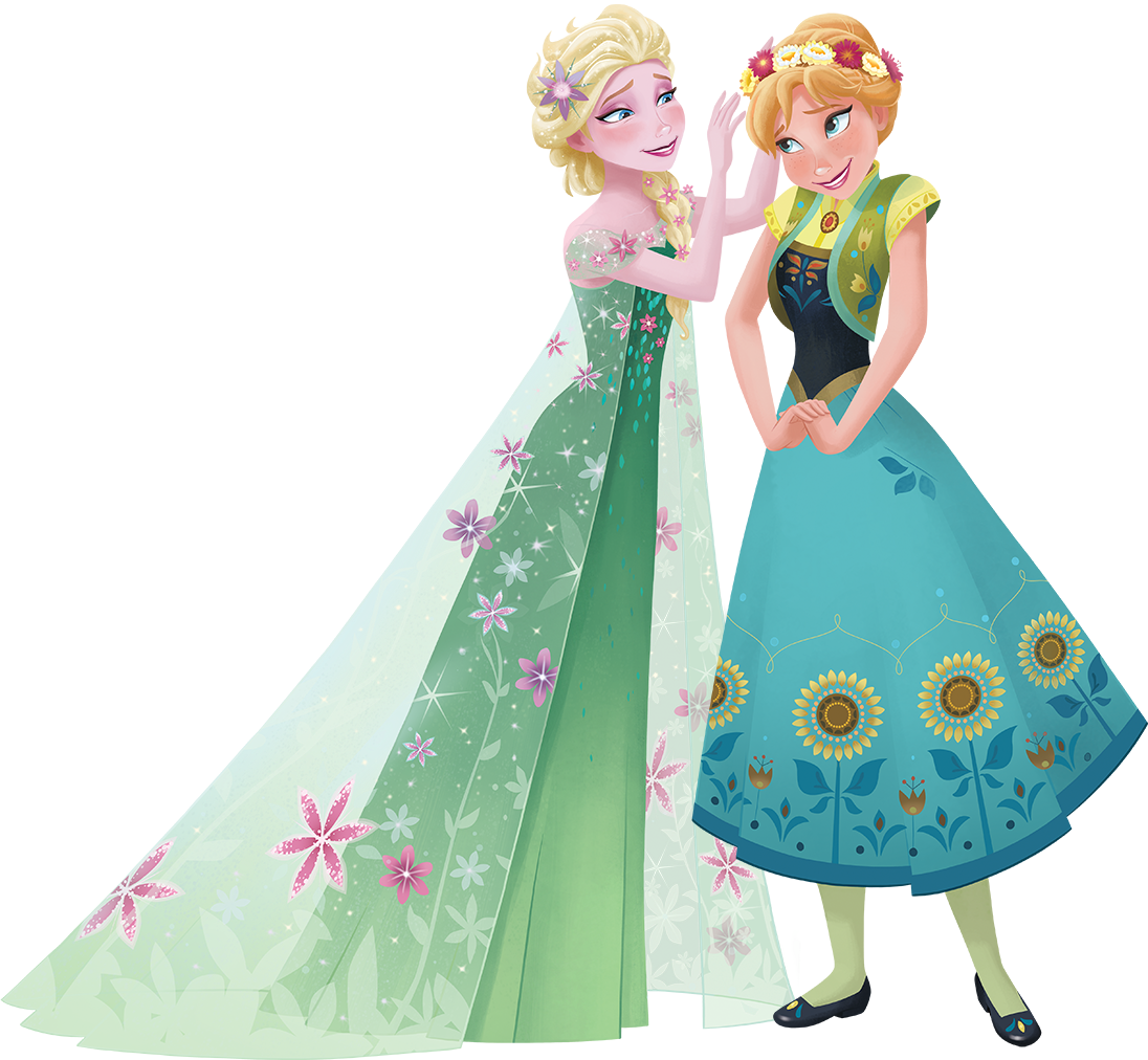 Frozen fever png. Image anna and elsa