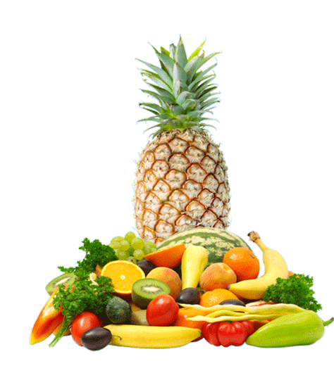 High to vegetables family. Fruits and veggies png png transparent stock