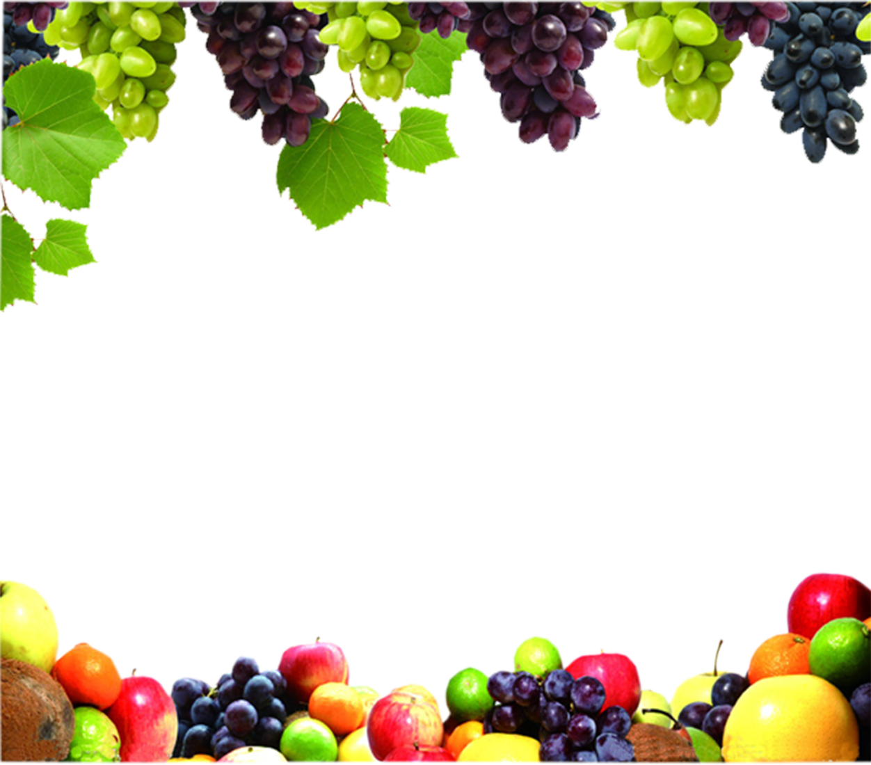 Fruit border png. Juice vegetable food grape