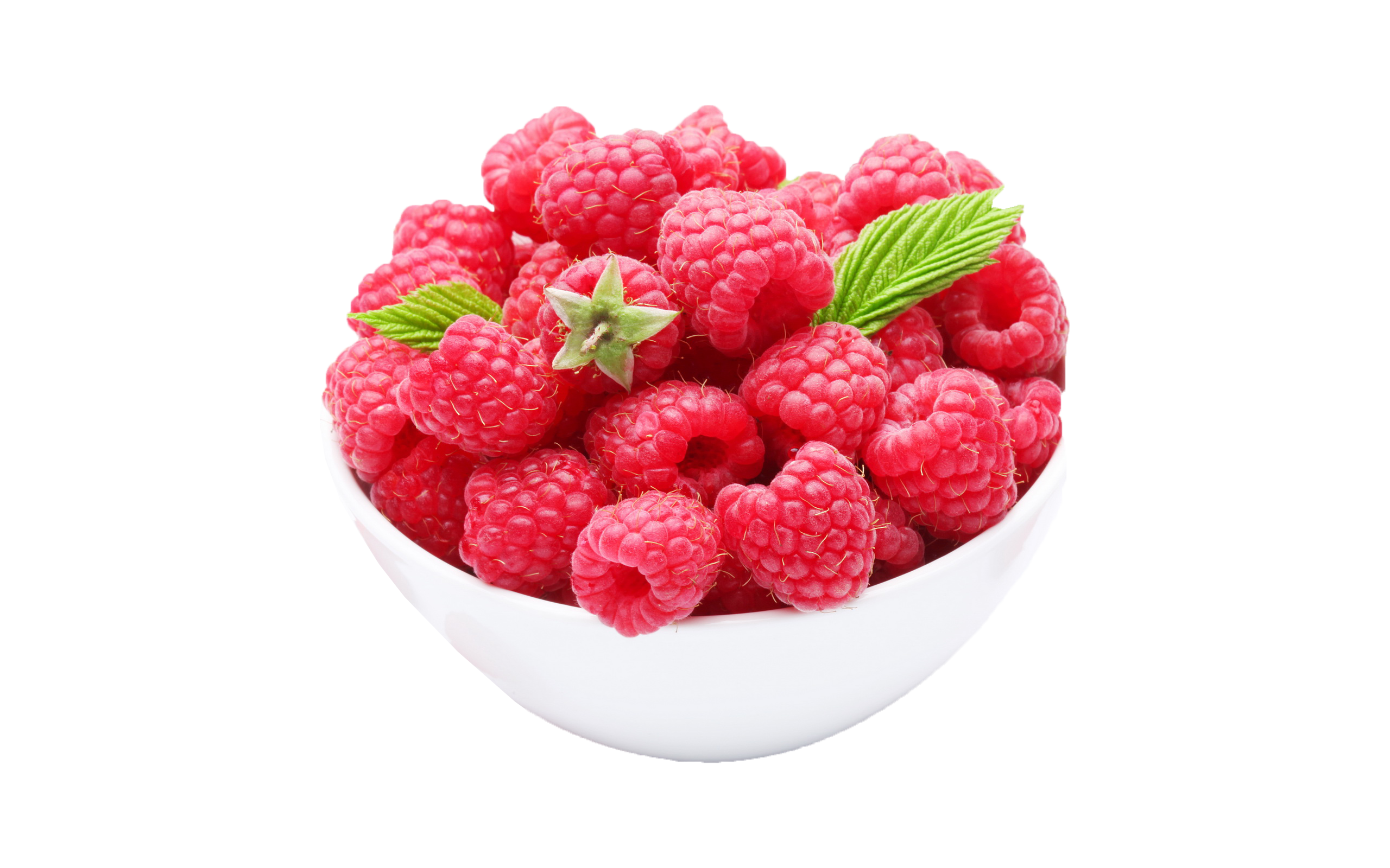 Transparent bowl fruit. Raspberries in a png