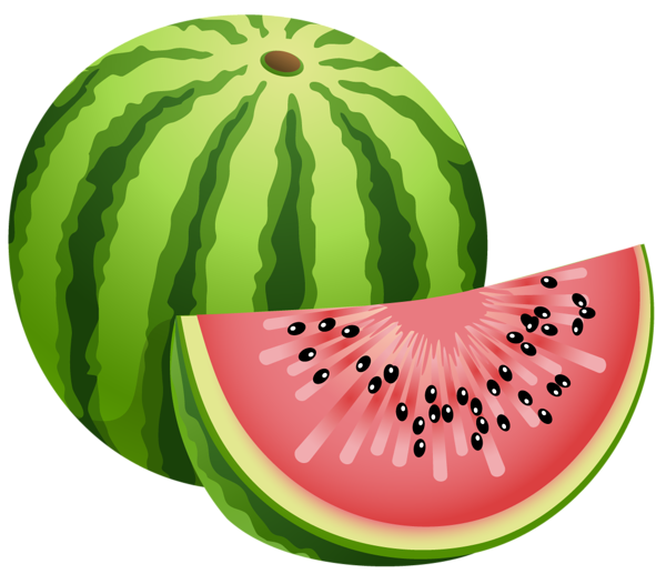 Fruits clipart png. Large painted watermelon fruit