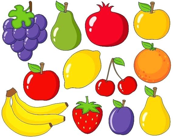 Fruits clipart. Fruit clip art graphics