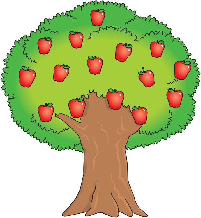 Small clipart apple tree. Panda free images bible