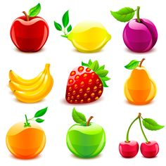 Fruit clipart ati. Free healthy fruits and