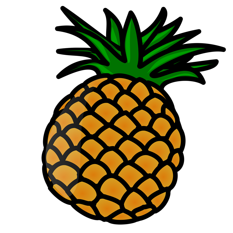 Fruit clipart baby. Illustration of a pineapple