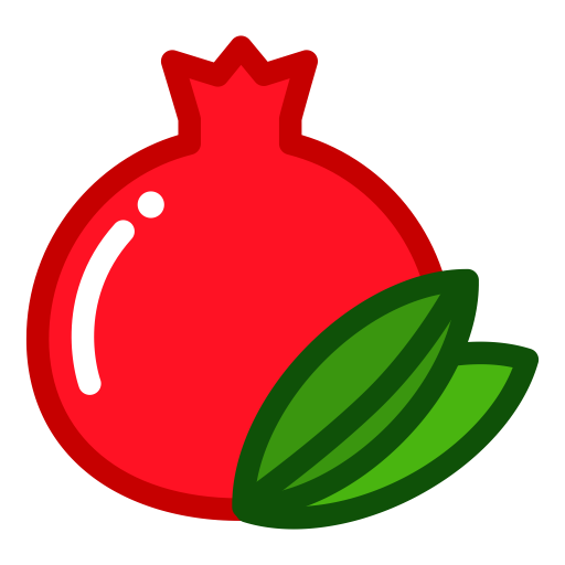 Fruit clipart pomegranate. Icon png and vector