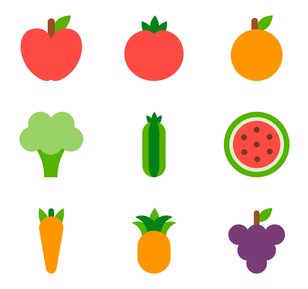 Fruit icon png. Fruits packs vector