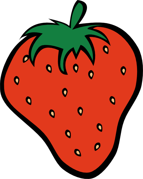 Medium strawberry. Free fruits cliparts download