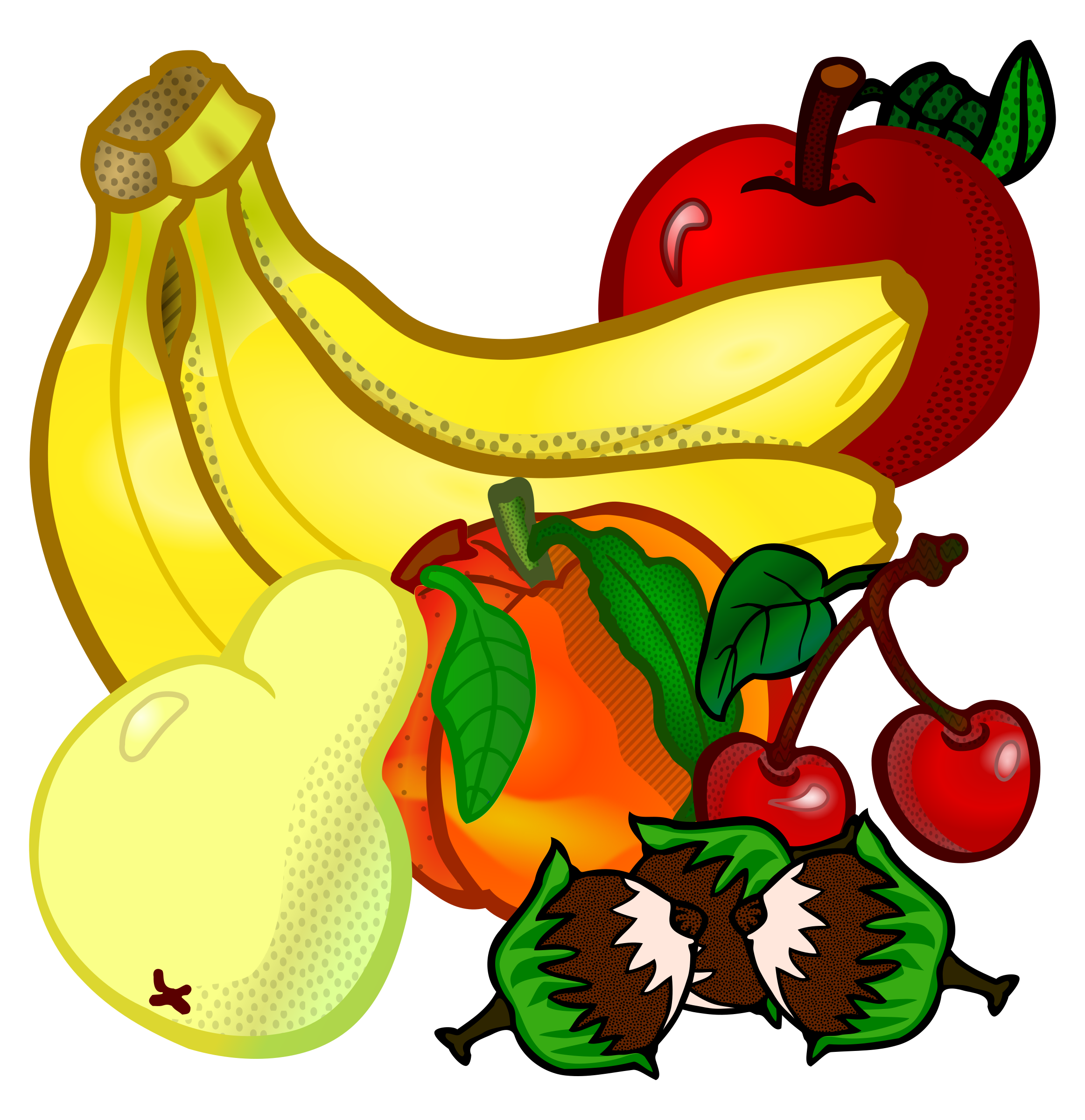 Fruits clipart. Of typegoodies me fruechte