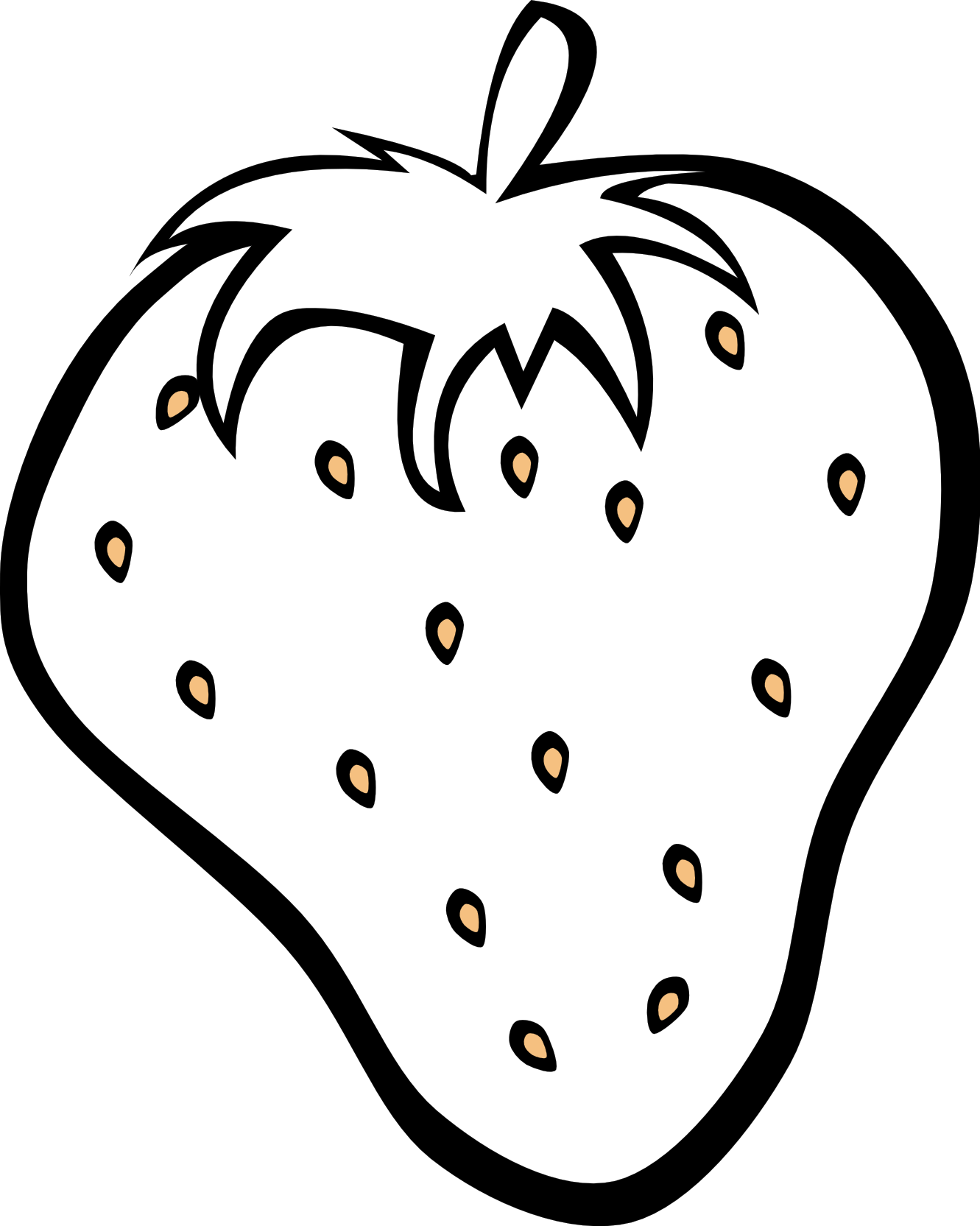 Strawberries clipart orange. Black and white fruit