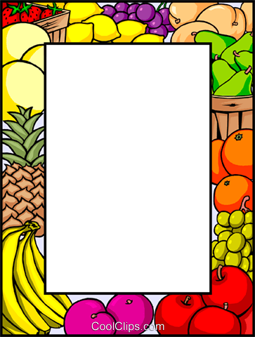 Fruits clipart frame. Free fruit borders cliparts
