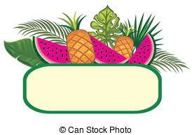 Fruits clipart frame. Exotic vector graphics eps vector transparent