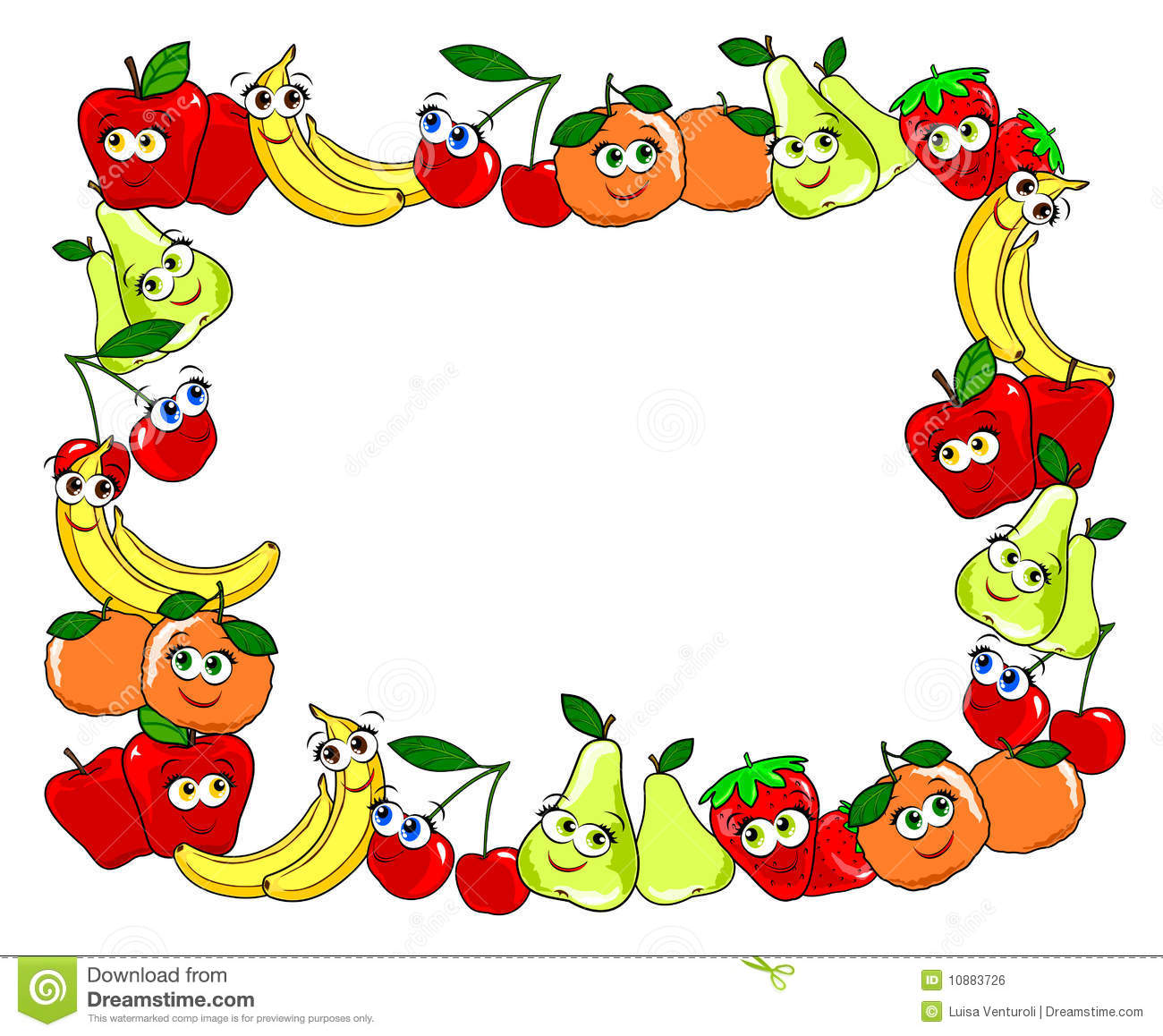 Made with fruit cups. Fruits clipart frame graphic royalty free download