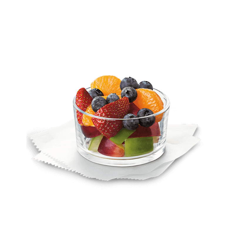 H transparent fruit. Cup chick fil a