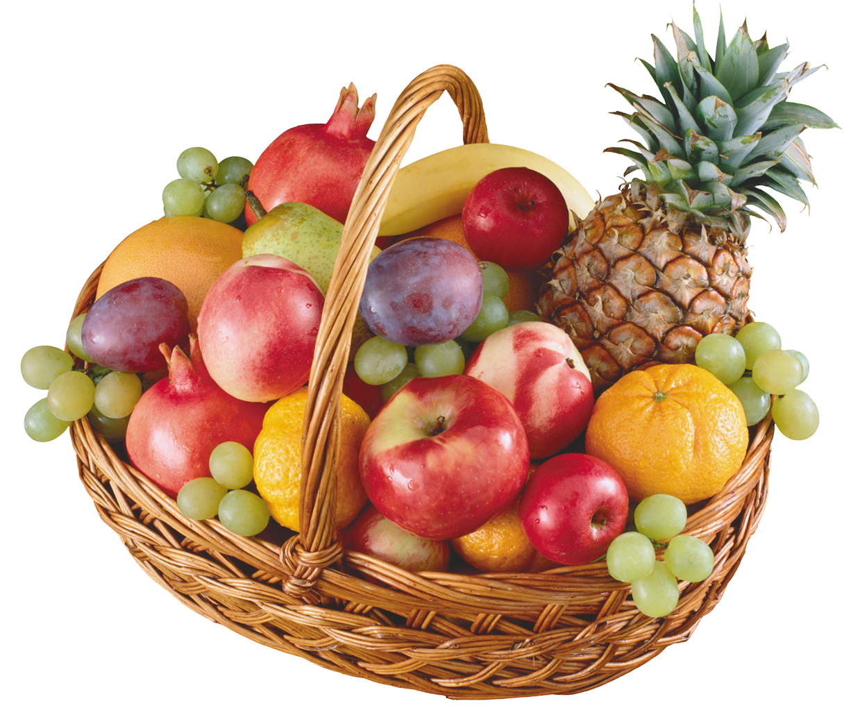 Basket with best web. Fruits clipart png clip art royalty free stock