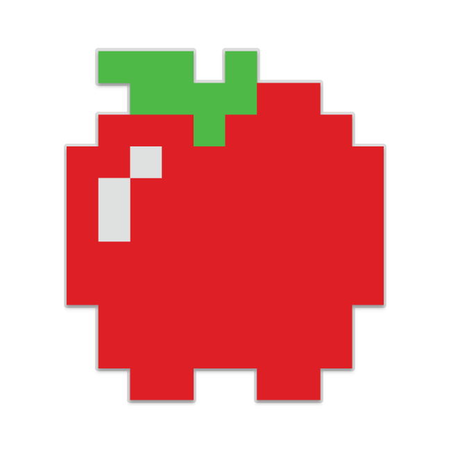 Fruits transparent 8 bit. Pacman banner free