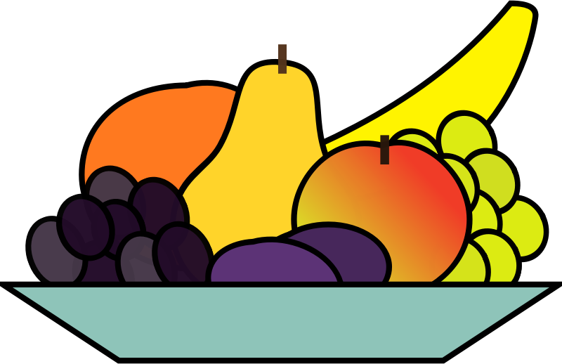 Fruits transparent animated. Clipart fruit tray cute